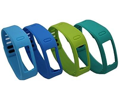 HONECUMI Multi-Color Replacement Wrist Bands With Clasps for Garmin Vivofit Rep...