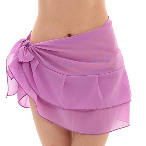 Cardigo Womens Chiffon Skirt Sunscreen Shawl Beach Bikini Swimwear Wrap Coverup Swimsuit Purple by Cardigo (Image #1)