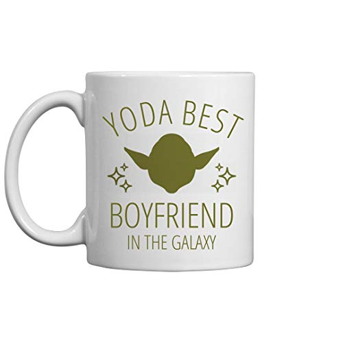 Yoda Ceramic (Yoda Best Boyfriend Jedi Gift: 11oz Ceramic Coffee Mug)