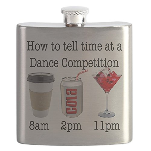 CafePress - COMP TIME - Stainless Steel Flask, 6oz Drinking Flask by CafePress (Image #1)