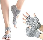 Non-Slip Yoga Gloves and Socks Set for Women Yoga Dance and Pilates