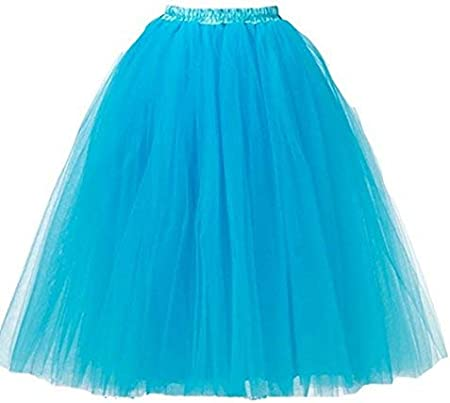 A Liittle Tree Black Long Ladies Girls Women Ballet Fancy Tutu Skirts Underskirts Petticoat 5 layer