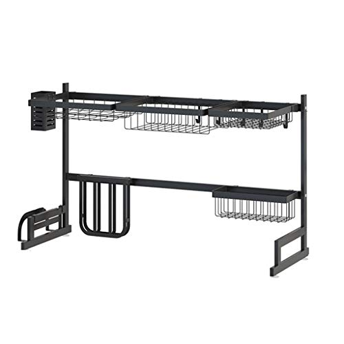 Dish Rack Stainless Steel Sink Drying Rack Dish Drainer Rack Kitchen Storage Rack- Kitchen Space Save Must Have(Single Slot,Double Groove) (Size : L) (Best Paint For Kitchen)