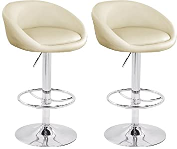 huge discount 020df 1e08f Lamboro 2 X CREAM BREAKFAST BAR STOOLS FAUX LEATHER BARSTOOLS KITCHEN STOOL  NEW CHAIRS by Lavin Lifestyle