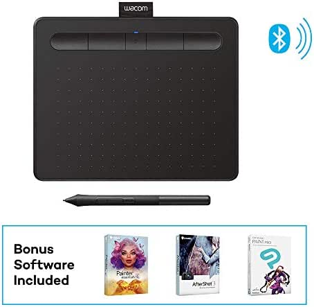 Wacom Intuos Wireless Graphics Drawing Tablet with 3 Bonus Software Included, 7.9