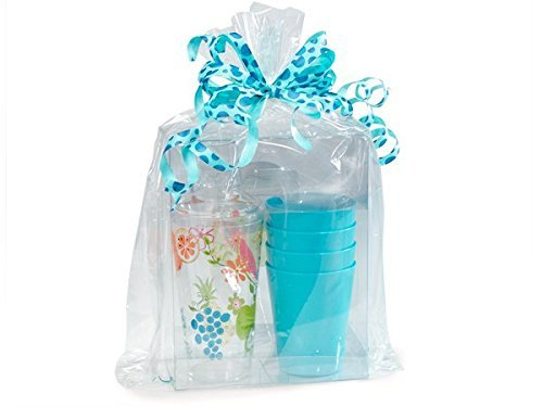 Clear Cellophane Bags Basket Bags Cello Gift Bags Gusset style bag 12 X 4 X 20 10 Pack