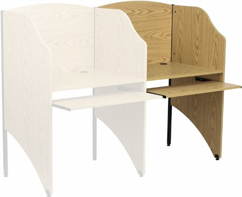 Flash Furniture Add-On Study Carrel in Oak Finish