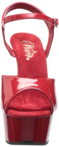 Pleaser Damen Delight-609 Plateau Rot (Rot (Red Pat/Red))