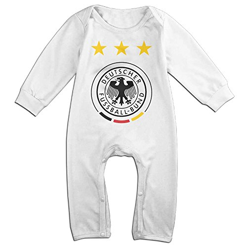OLGB Babys Germany National Football Team Long Sleeve Bodysuit 6 (Costumes National Boots)