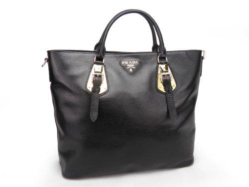 Prada Leather Black Tote Bag - Model BN1902