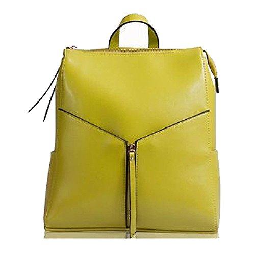 Couleur à Coréen à Lemonyellow Sac Voyager AJLBT Shopping Simple Polyvalent Main Femme Mode Pour Sac Dos Sac qzZgH