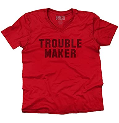 Trouble MakerFashion Rihanna Jay Z Hip Hop Skate Slogan V-Neck T-Shirt