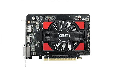 Asus R7250-2GD5 AMD Radeon Grafikkarte (2GB DDR5 Speicher, PCIe 3.0, HDMI, DVI, DisplayPort)