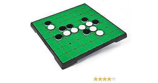Reversi ajedrez de 10 x 10 Pulgadas, Juego de 64 Piezas, Juego de Estrategia de Mesa, ajedrez Blanco y Negro, ajedrez de Othello, Reversi: Amazon.es: Juguetes y juegos