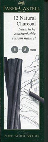 Faber-Castell PITT ナチュラルチャコール 5-8mm プリスター (約10本入り)