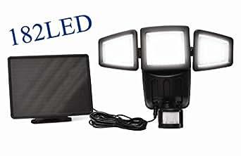 1000LUMEN Upgrade Solar Powered Motion Sensor Lights 182SMD Garage Outdoor Se