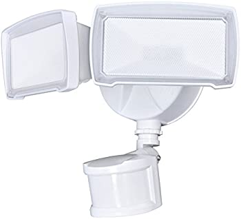 Utilitech Pro 180-Degree 2-Head Motion-Activated Flood Light