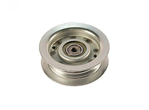"Flat Idler Pulley replaces John Deere AM146880 & GY00054. For John Deere / SABO Pulley Mowing Deck 42"", 46"", 48"" Snow 47"". Fits LT / LTR 155, 166, 180, 47"" Snow X530, 534, 540"