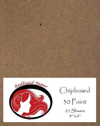 25 Sheets Chipboard Medium Weight 30 Point (4 X 6 inches)