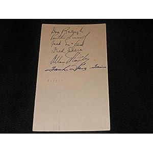 1949/50 New York Rangers Team Autographed Signed Gpc Autograph Vintage Postcard Jsa Coa F14