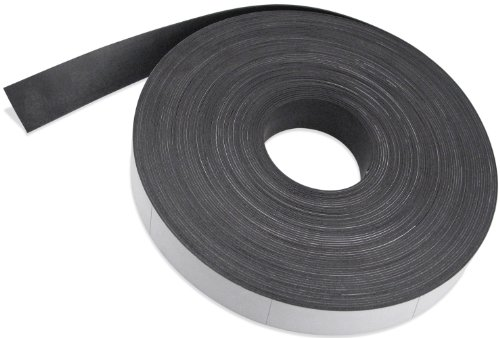 Flexible Magnet Strip with White Vinyl Coating, 1/32'' Thick, 2'' Height, 200 Feet Scored Every 6'', 1 Roll with - 398 - 2'' x 6'' pieces by Master Magnetics