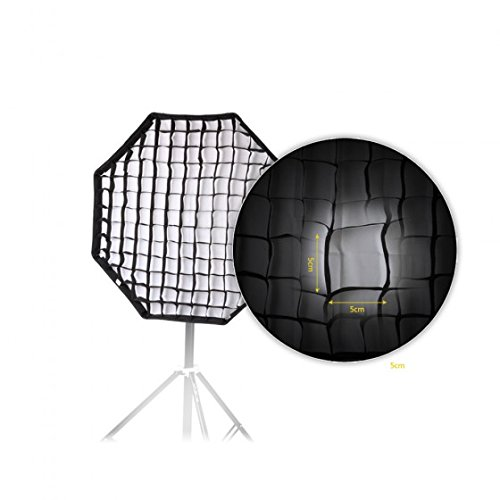 IMONIC 80cm / 31.5in Octagon Umbrella Softbox Brolly Reflector with Honeycomb Grid for Speedlite