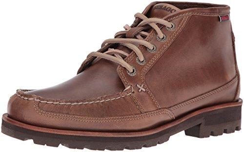 Dark Men's Oiled Ankle Vershire Waxy Taupe Sebago Bootie Chukka Leather xXndqf0X6w