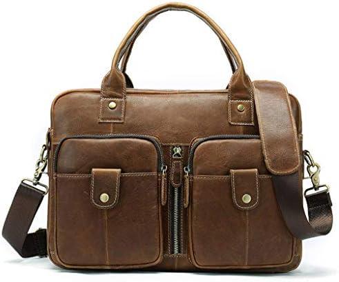 ラップトップブリーフケース 14 Inch, 男性用ビジネスオフィスバッグ, スタイリッシュマルチ-機能的なラップトップショルダーメッセンジャーバッグ