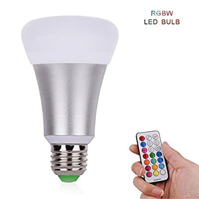 LED Bulbs,Boying-LED Color-001 10W 2.4G Wireless RGBW LED Light Color Changing Lamp Bulb AC 85-265V with Remote Controller RGB + White
