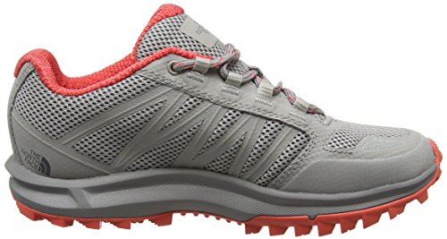 The North Face Litewave Fastpack, Botas de Senderismo Para Mujer, Varios Colores (Foil Grey/Cayenne Red), 40/41 EU