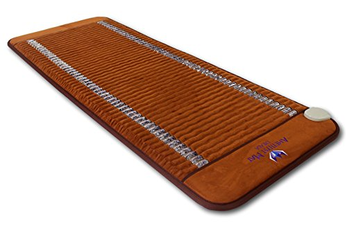 "Far InfraRed Amethyst Mat Compact PRO 59''L x 24""W - Made in Korea - Deep Penetration FIR Heat - Ion Therapy - Jewelry Grade Natural Amethyst - FDA Registered Manufacturer - Heating Pad with Crystals by Bio Amethyst"
