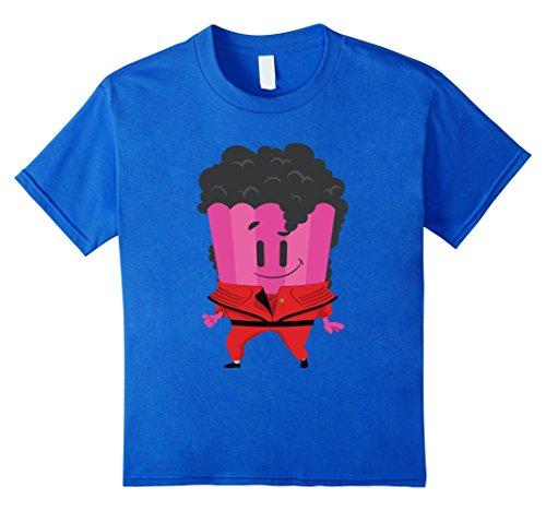 unisex-child Trivia Crack King Pop T-Shirt 8 Royal Blue (Jackson Youth T-shirt)