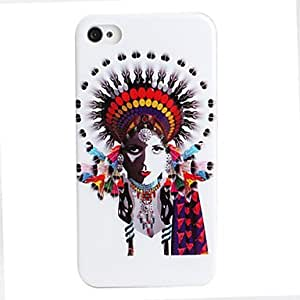 PEACH ships in 48 hours Feather Image Style Protective Case for iPhone 4 and 4S (Multicolor)