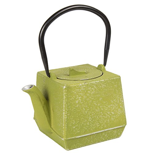Creative Home 73516 Cast Iron Tea Pot 28 Oz Color, Green