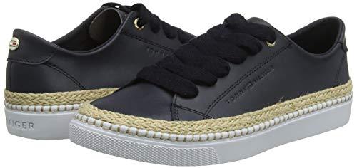 Tommy Hilfiger Damen Tommy Jute City Sneaker, Blau (Midnight 403), 39 EU 7