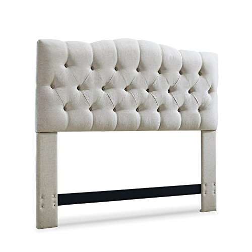 Tufted Headboard - Upholstered Fabric Tall Full / Queen / King / California King Contemporary Headboard (King / California King, ()