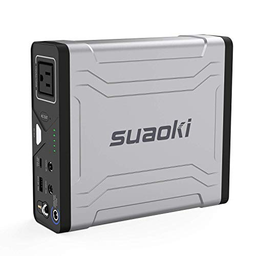 - Portable AC Power Bank, SUAOKI 27000mAh/100Wh Laptop Charger External Battery Pack with 110V/100W AC Power Inverter and USB-C Quick Charge 3.0 Port for MacBook Air Iphone Camera Camping (G100)
