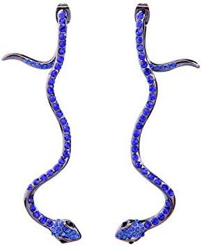 Punk Alloy Snake Earrings Crystal Stud Earrings