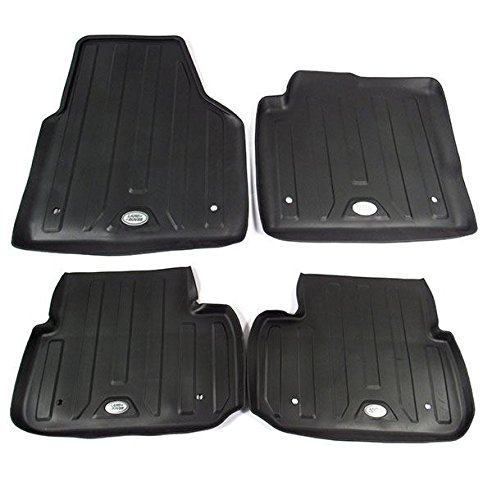 Land Rover VPLCS0281 1st and 2nd Row Rubber Floor Mat Set for Discovery Sport