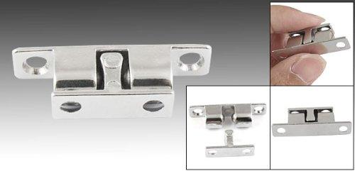 Doppelkugelschn/äpper 40/mm Schrankt/üren Latch Silber Ton