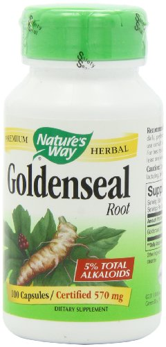 Nature's Way Goldenseal Root, 570 mg, 100 Capsules