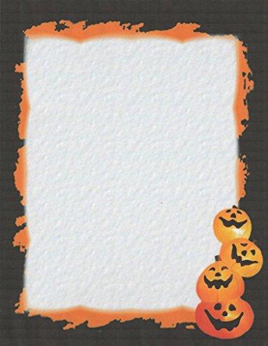 Halloween Jack O Lantern Stationery Printer Paper 26 Sheets
