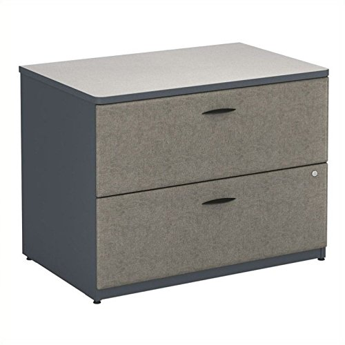 Bush Business Furniture Series A Collection 36W 2Dwr Lateral File in White Spectrum by Bush Business Furniture