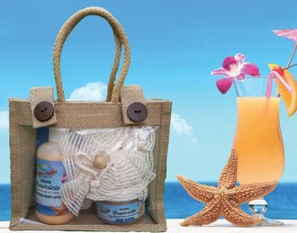 Island Essentials 3-Piece Gift Set Orange Creamsicle scented with fresh squeezed, Florida oranges in cool vanilla!