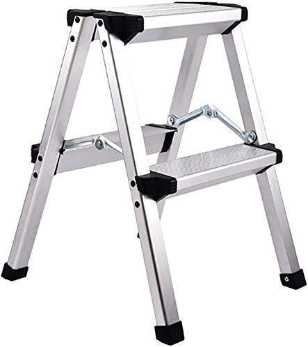 YZjk Taburete Plegable fácil y Multifuncional, Taburete de 2 peldaños Escalera de aleación de Aluminio Taburete Escalera portátil de ingeniería Taburete Alto para el hogar, Plateado: Amazon.es: Hogar