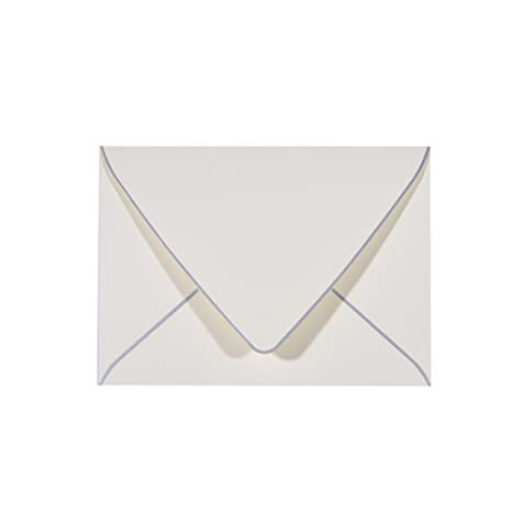 amazon com 50 pack a7 ivory envelopes with silver border