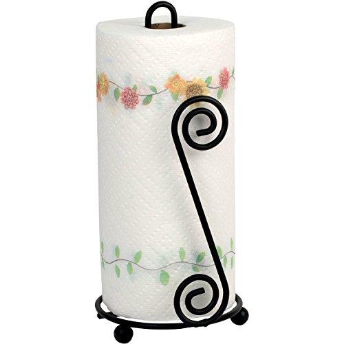 OKSLO Scroll paper towel holder, black ()
