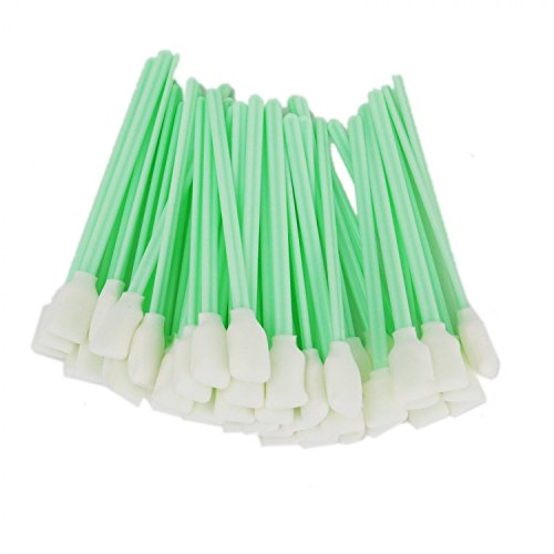 HUELE 100pc 5.1'' Foam Cleaning Swab Sticks For Solvent Format Inkjet Printer, Camera by HUELE