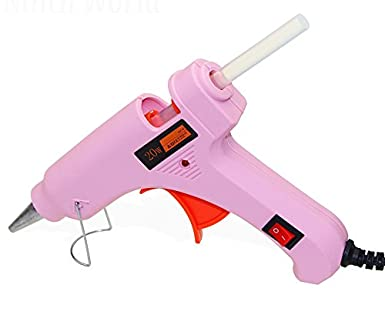 Glun Pink Mini IWILL20W 20 WATT On Off Switch and Indicator Hot Glue Gun