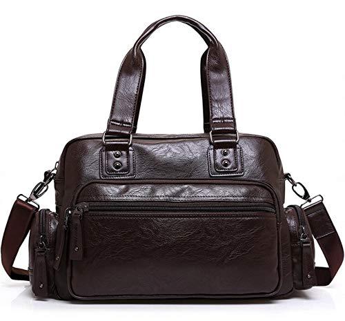 JWI Mens Bag Mens Handbags Fashion Casual Bags Travel Bags Leather Mens Shoulder Bags Color : Brown